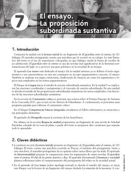 Propuesta Didáctica Unidad 7. Lengua Castellana y