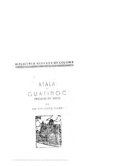 Atala y Guatimoc : (tragedias en verso)
