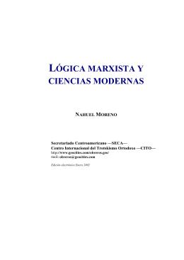 LÓGICA MARXISTA Y CIENCIAS MODERNAS - LCT-CWB