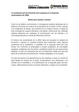 Prácticas del Lenguaje - Dirección General de Cultura y Educación