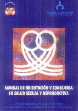 Manual de orientación y consejería en salud sexual y