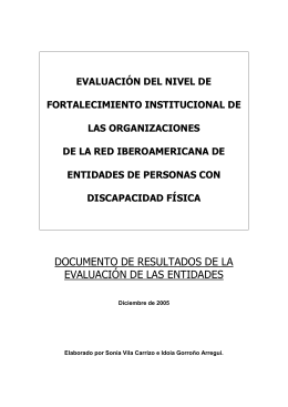 documento de resultados de la evaluación de las entidades