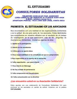 EL ENTUSIASMO CONSULTORES SOLIDARISTAS