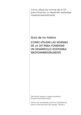 Guía de los folletos COMO UTILIZAR LAS NORMAS DE LA OIT