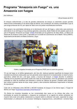 """Programa """"Amazonía sin Fuego"""" vs. una Amazonía con fuegos"""