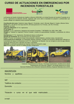 Folleto informativo curso incendios