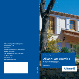 Folleto Allianz Casas Rurales