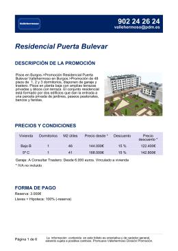 Residencial Puerta Bulevar DESCRIPCIÓN DE LA