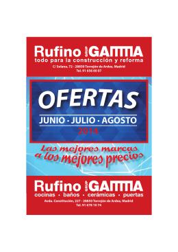 Folleto ofertas Junio-Julio-Agosto 2014
