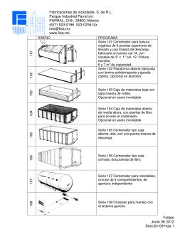 Folleto Junio 06 2012 Sección 09 hoja 1 Fabricaciones de