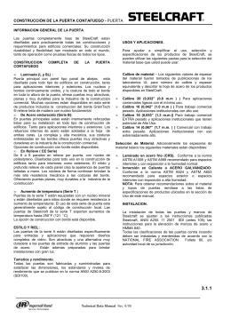 CONSTRUCCION DE LA PUERTA CORTAFUEGO