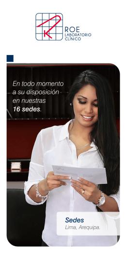 Folleto ROE Sedes WEB - Laboratorio Clínico Roe