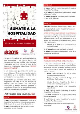 FOLLETO de ACTIVIDADES 2015 - Jóvenes de San Juan de Dios