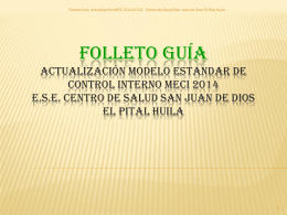 Folleto Guía Actualización MECI 2014 E.S.E. El Pital