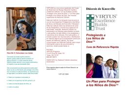 Diócesis de Knoxville Un Plan para Proteger a los Niños de Dios™
