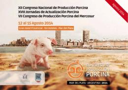 Agosto 2014 - Congreso Producción Porcina