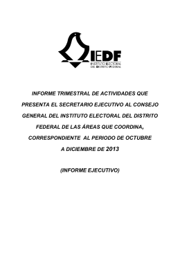 I. CUARTO INFORME TRIMESTRAL FINAL 2013