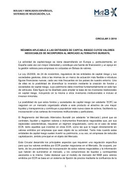Circular 3/2010 - Bolsas y Mercados Españoles