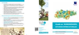 Grado de Humanidades: Estudios Interculturales