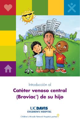 Catéter venoso central (Broviac®) de su hijo