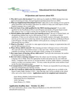 Educational Services Department 10 Questions and Answers about