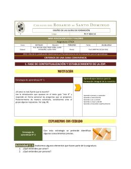 motivación exploremos con cuidado - Colegio del Rosario de Santo