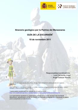 Guía excursión La Pedriza - Instituto Geológico y Minero de España