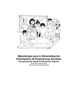 Metodología para la Sistematización Participativa de Experiencias
