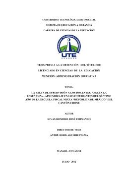 tesis previa a la obtención del título de licenciado en ciencias de la