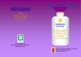 FOLLETO FALSIFICACION MARCAS 2015