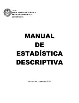 MANUAL DE ESTADÍSTICA DESCRIPTIVA