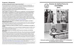 PFT Parent and Guardian Guide - Physical Fitness Testing (CA Dept