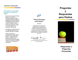 """Preguntas y Respuestas para Padres """"Parent Questions"""