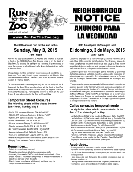 NOTICE - Run for the Zoo