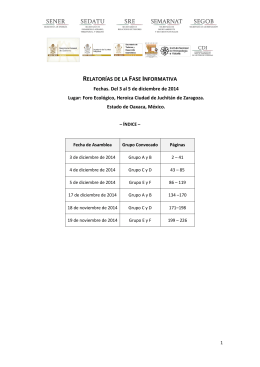Recopilación de Relatorías Asambleas Informativas de la Fase