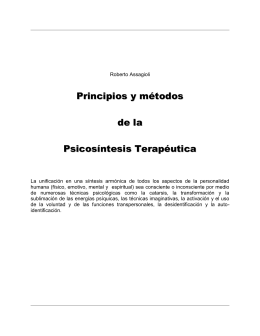 Principios y métodos de la Psicosintesis