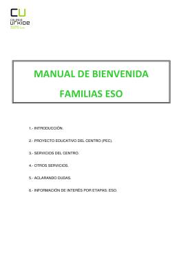 MANUAL DE BIENVENIDA FAMILIAS ESO