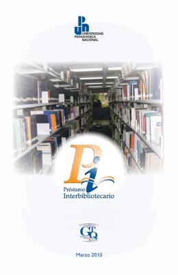 Folleto del Servicio de Préstamo Interbibliotecario de la Biblioteca
