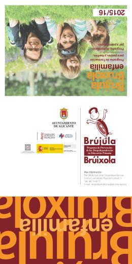 Folleto y hoja de inscripción del Programa Brújula / Bruixola