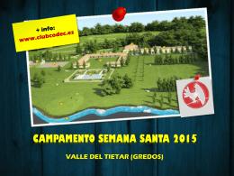 Folleto del Campamento de Semana Santa 2015