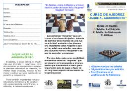 Taller ajedrez verano 2014 folleto