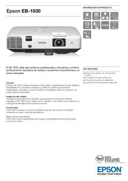 Catálogo de producto: Epson EB-1930 (spa pdf)