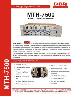 M T H -7500 - DBA Systems