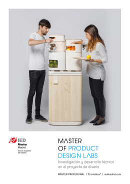 Descargar folleto PDF - Masters of Design and Innovation