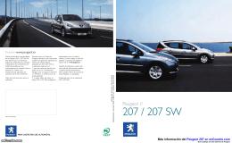 Catálogo del Peugeot 207