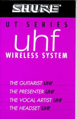Shure UT WIreless User Guide Spanish