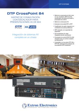 Extron - DTP CrossPoint 84