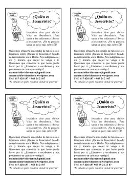 folleto jesus