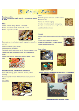 folleto (1467918) - Ro Catering Diferente