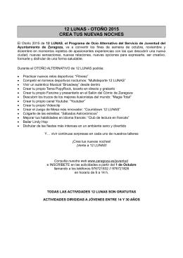 Folleto adjunto - Ayuntamiento de Zaragoza